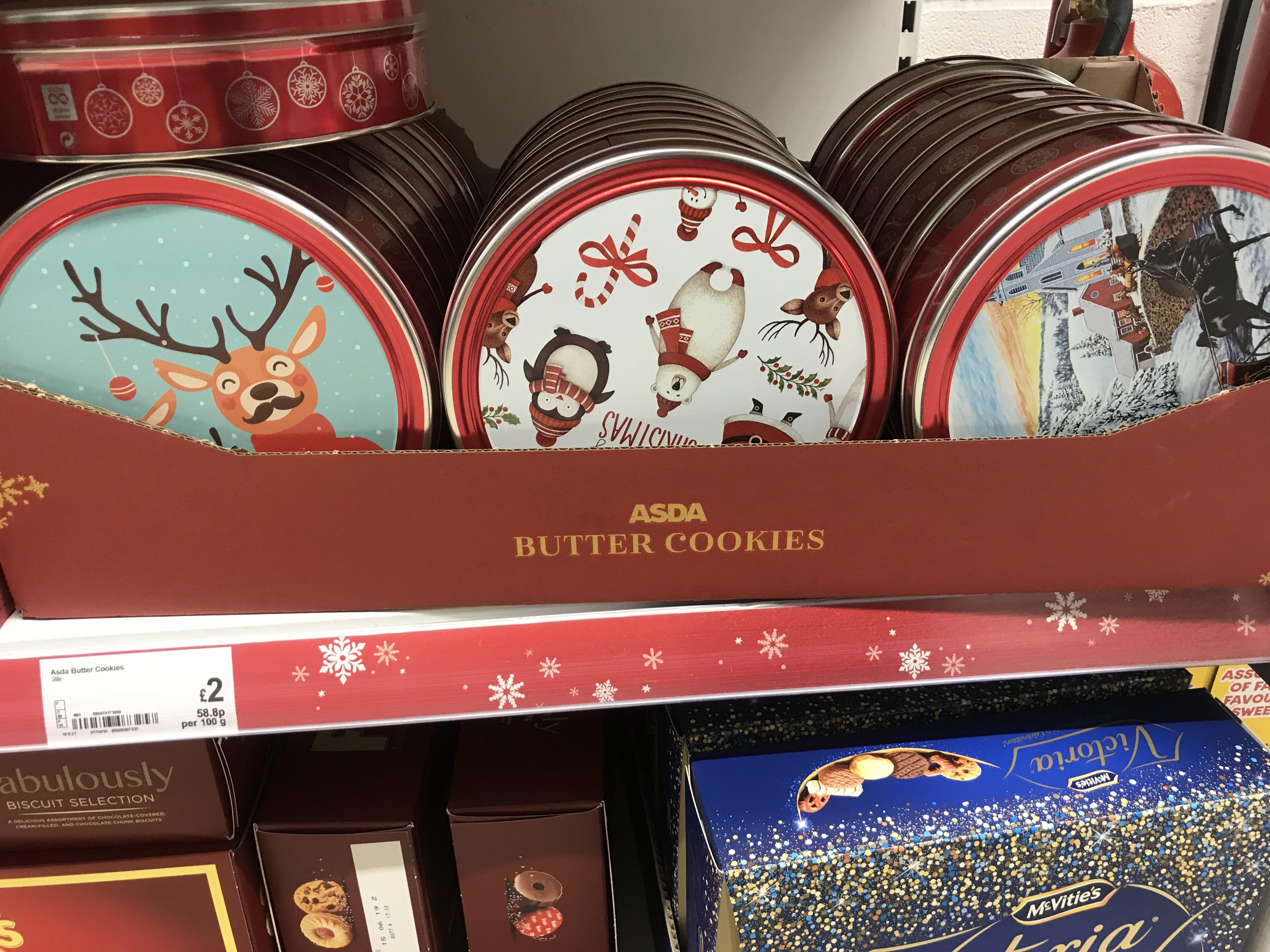 Christmas cookies £2 Asda instore