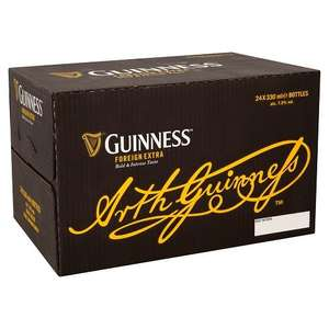 Guinness Foreign Extra Bottle Beer, 24 x 330 ml@amazon pantry,2.99 delivery applies.£18.99