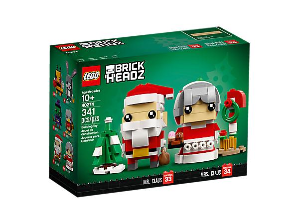 LEGO 40274 - Mr & Mrs Claus Brickheadz Duo - £10 (should be £17.99) @ LEGOLAND Shop Birmingham