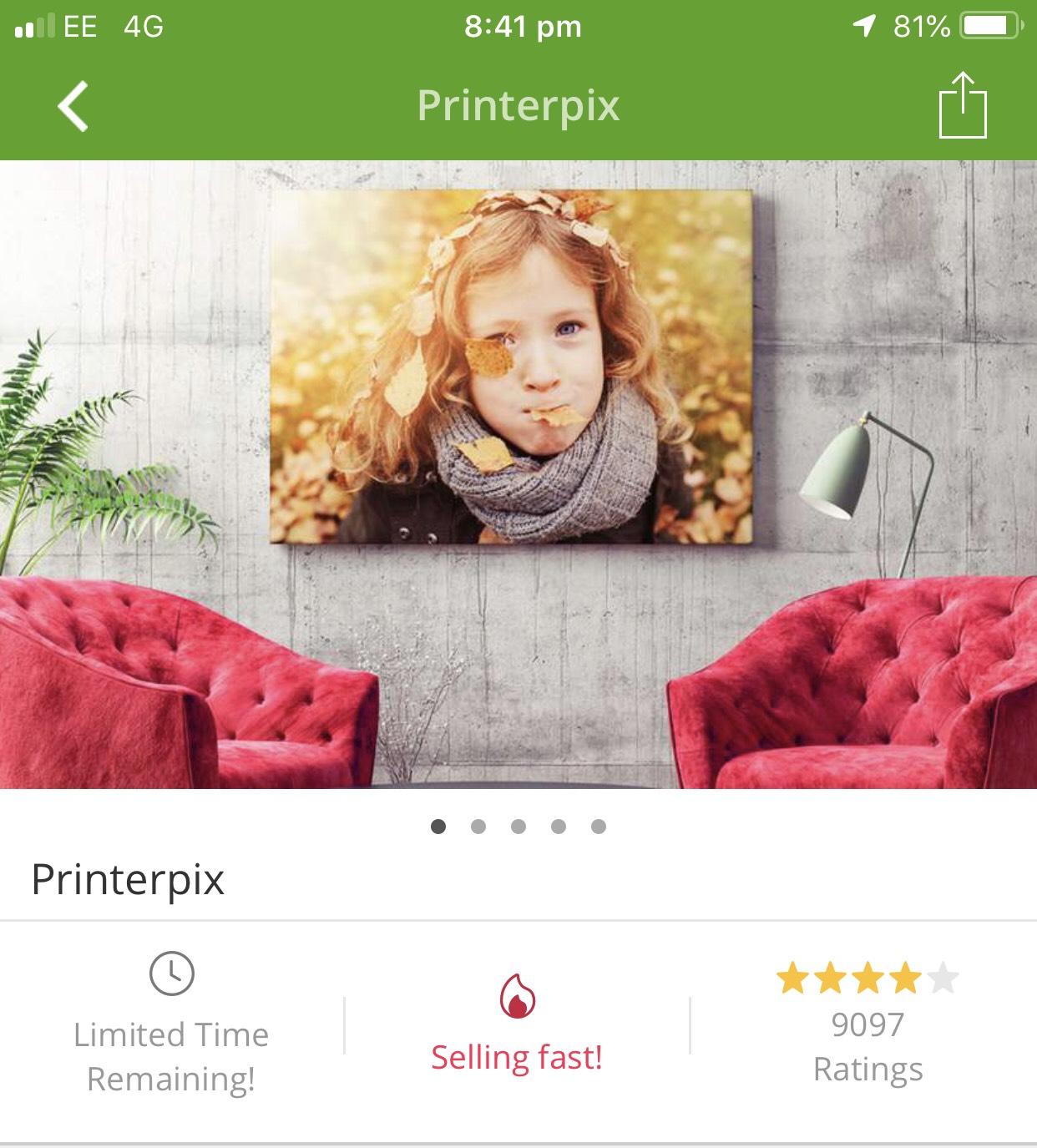 PrinterPix Personalised Canvas FREE P+P