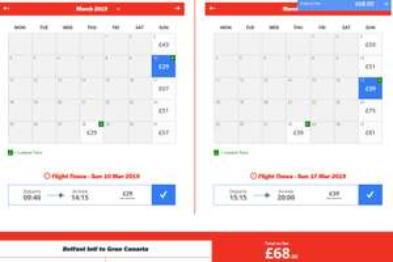 Jet2 Flight BFS>Gran Canaria 10th>17th March 2019 £68 PP Return (no bags)