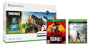 Xbox One S 1TB Fortnite + Red Dead Redemption 2 + Assassins Creed Odyssey Limited Edition
