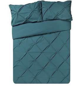 Super king teal Argos Home Hadley Pintuck Bedding Set £11.99 free c+c or £3.95 delivery(200 thread count) Ebay