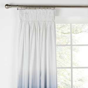 Ombre Unlined Pencil Pleat Ring Top Curtains - Choice of Colour Red, Green or Blue 90 x 90 inch £7.99 Delivered Argos on eBay