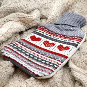Knitted Hot Water Bottle was £10.99(patterned) or £8.99 (plain colour) now £4.99 P&P £2.99 Lots of Colours available at RINKIT.com