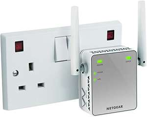 WiFi booster for those far to reach places - NETGEAR N300 Mbps Universal £11.89 prime / £16.38 non prime @ Amazon