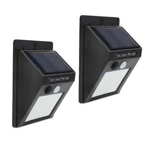 Pack of 2 x 20-LED Wireless Motion Sensor Solar Wall Lamps £7.27 Delivered w/code @ Dresslily