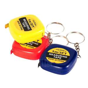 1m / 3 feet long mini tape measure on a key chain 54p delivered @ Gearbest