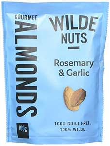 Wilde Nuts Garlic and Rosemary Almonds, 100 g, Pack of 8 £5.33 @ Amazon -  add on item