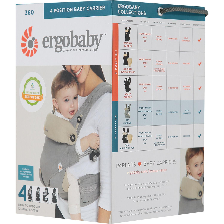 ERGOBABY  360 Grey Baby Carrier £79.99  w/ free delivery @ TK Maxx