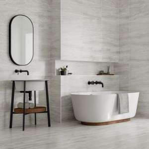 Wickes Callika Mist Grey Tiles 60x30cm - 50% off plus additional 15% off - £10.99 a pack. £10.18sqm