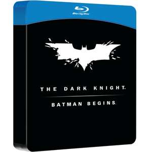 Batman Begins and the Dark Knight Double Pack Steelbook Blu-Ray was £19.00 now £11.40 Delivered @ 365games