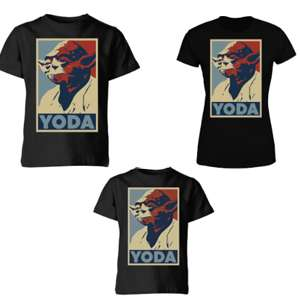 Tee of the week - Yoda Poster Design £8.99 + Free del w/code @ My Geek Box [Men's / Women's / Kid's]