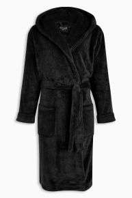 Mens black fleece robe £16 / Ladies lypsy dressing gown in pink £14 on next Clearance, free click n collect to store (sizes XS S M & L)