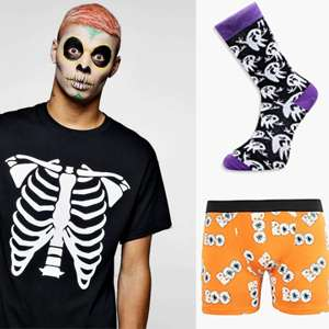 30% off Men's Halloween Clothing + Free Next Day Delivery W/code @ BoohooMan - Items from 70p