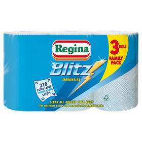Regina Blitz XL Kitchen Rolls - 3 x 70 sheets now £3 at ASDA