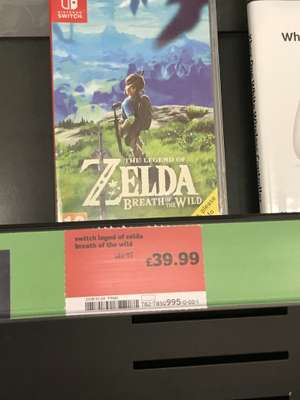 Legend of Zelda Breath of the Wild Switch instore at Sainsbury's for £39.99