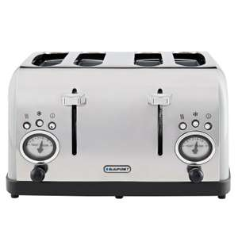 Blaupunkt 4 slice retro toaster grey or white now £34.99 @ B&M