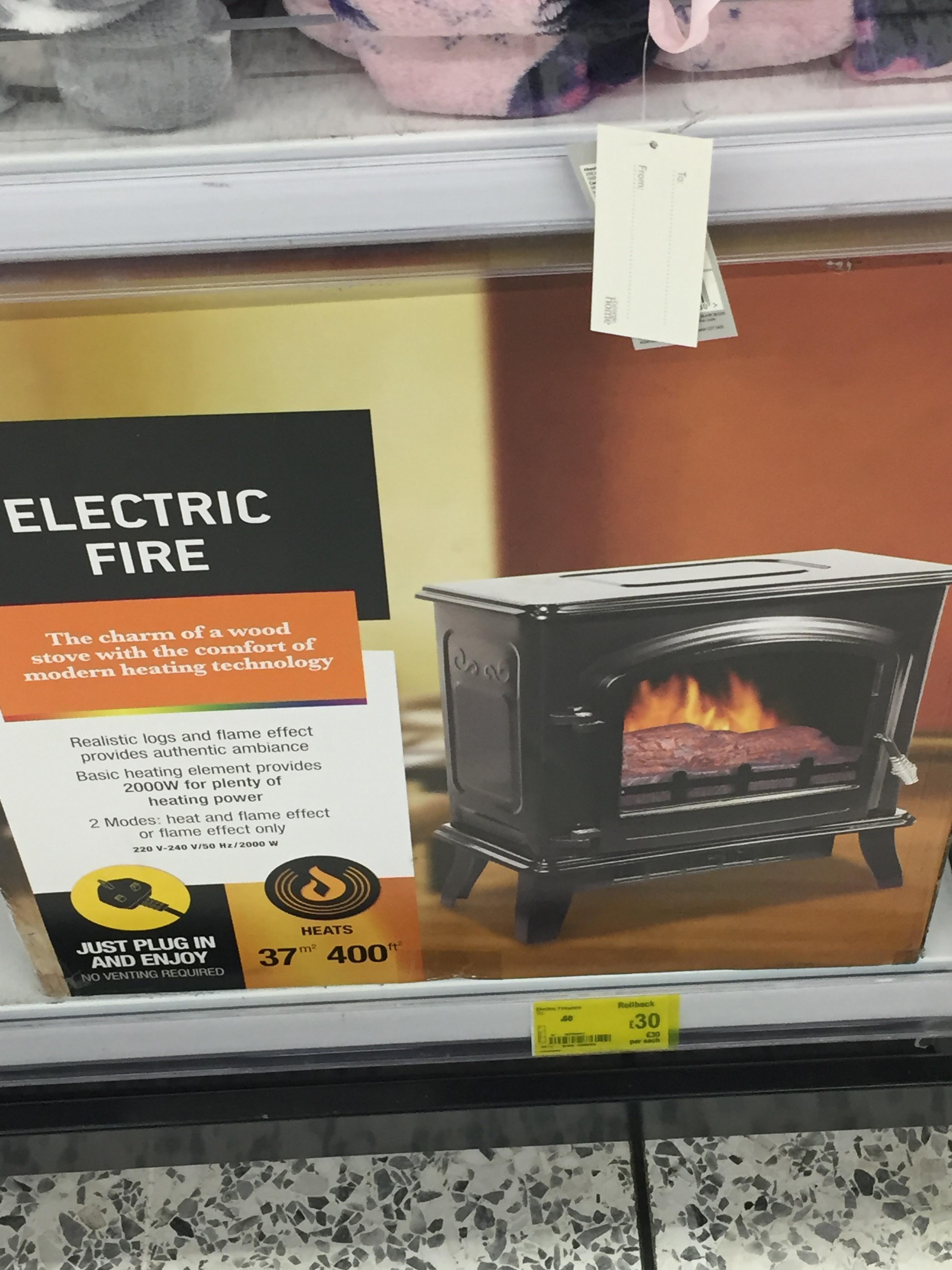 Electric Fire Half price - £30 instore @ ASDA Newport