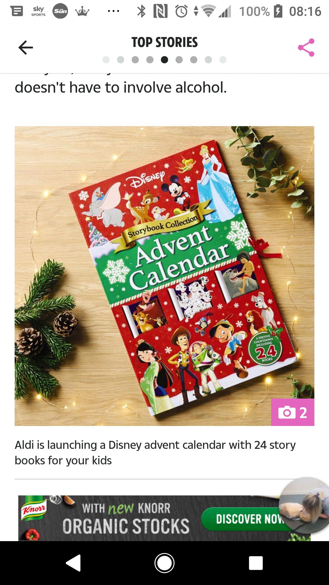 Disney advent calendar 24 books at Aldi for £9.99