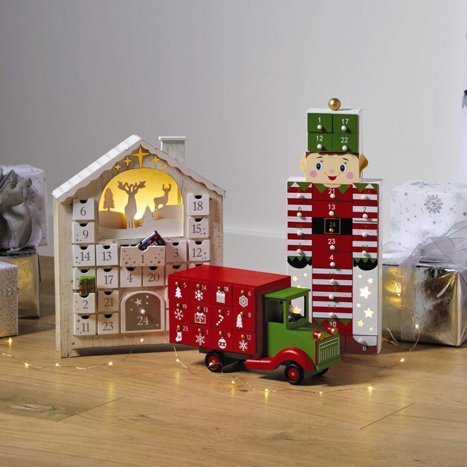 Aldi wooden advent calendar £8.99