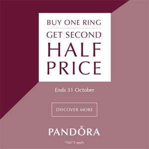Buy one PANDORA Ring, get one half price @ The Jewel Hut ( + £1.95 P&P / Free wys £50)