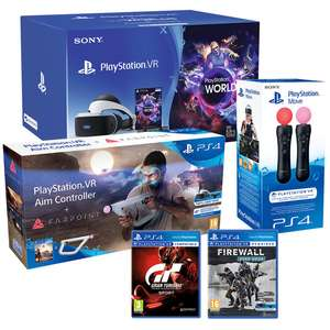 PlayStation VR Starter Pack Bundle with VR Worlds, Firewall Zero Hour, GT, Farpoint with Aim Controller and Move Controllers £299 at Costco