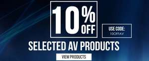 10% off Selected Electrical Shop with Code @ Electric Shop