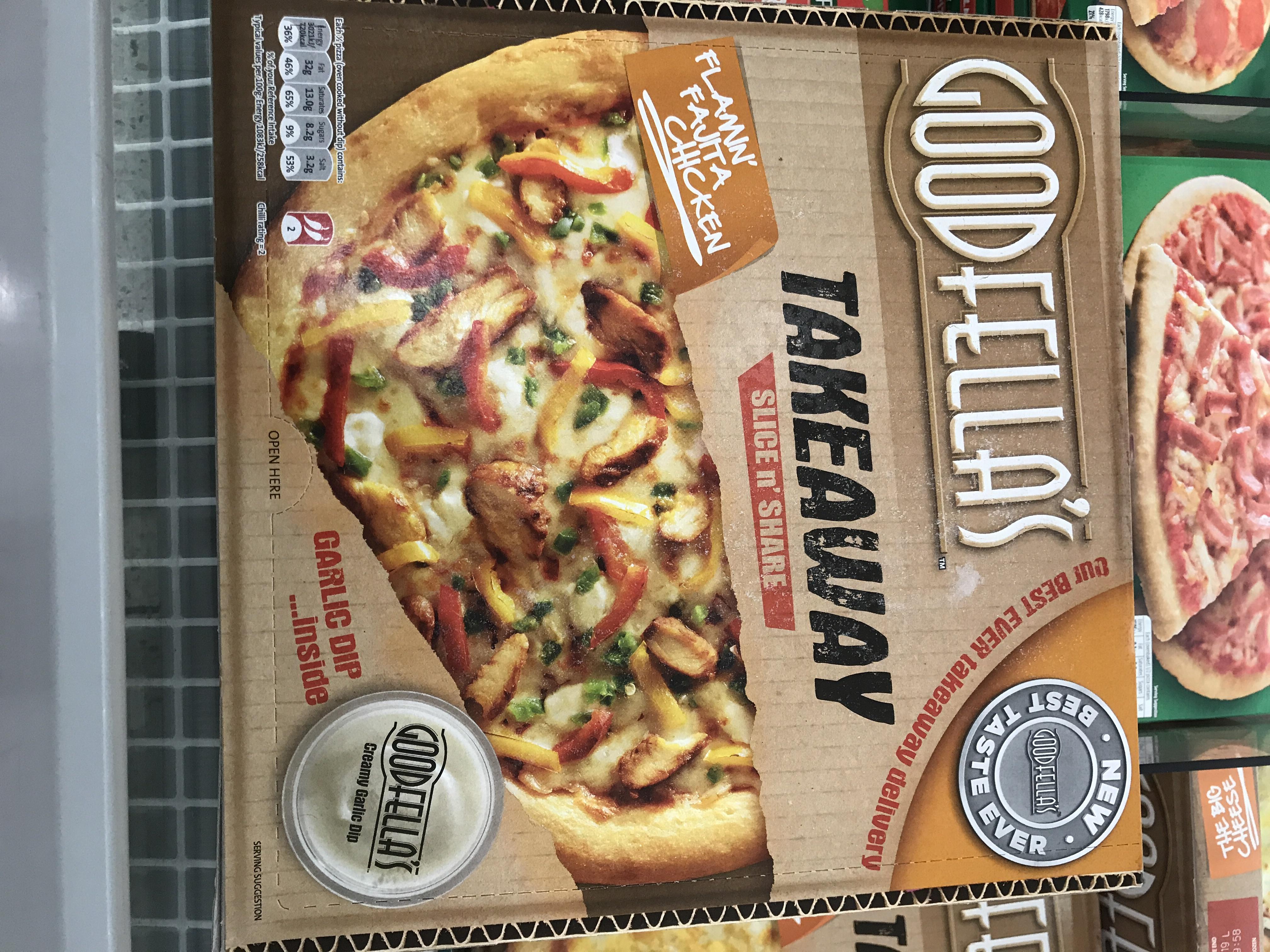 Goodfellas Flamin Fajita Chicken Pizza at Asda for £1.20