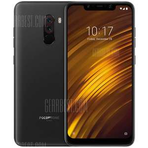 Xiaomi Pocophone F1 6GB RAM 4G Phablet Global Version - GRAPHITE BLACK for £242.36 @ GearBest