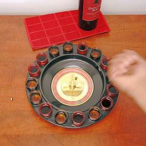 Drinking Roulette inc 16 glass shot glasses and free delivery at Amazon and sold by Electro World for £5.45