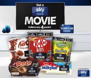 Buy any 4 promotional packs of Nestlé* and get £5.99 Sky Store Credit @ Nestle-promotions