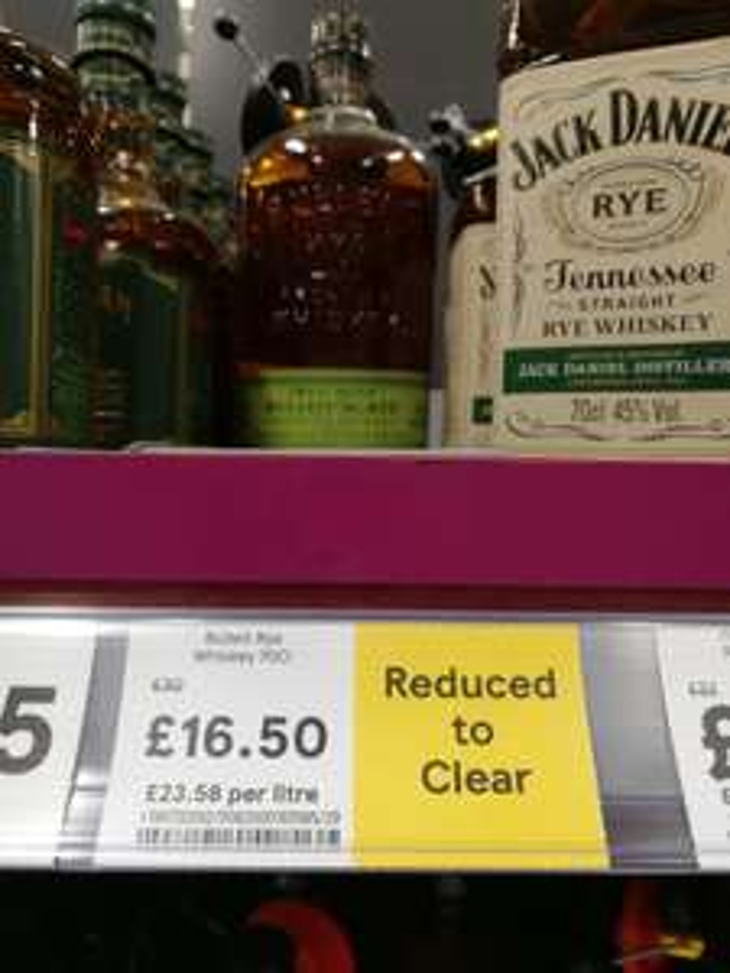 Bulleit rye whiskey 70cl - Tesco - Alfreton - £16.50