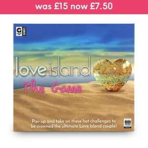 Love Island the Board Game was £15.00 now £7.50 @ Moonpig. P+P £2.76