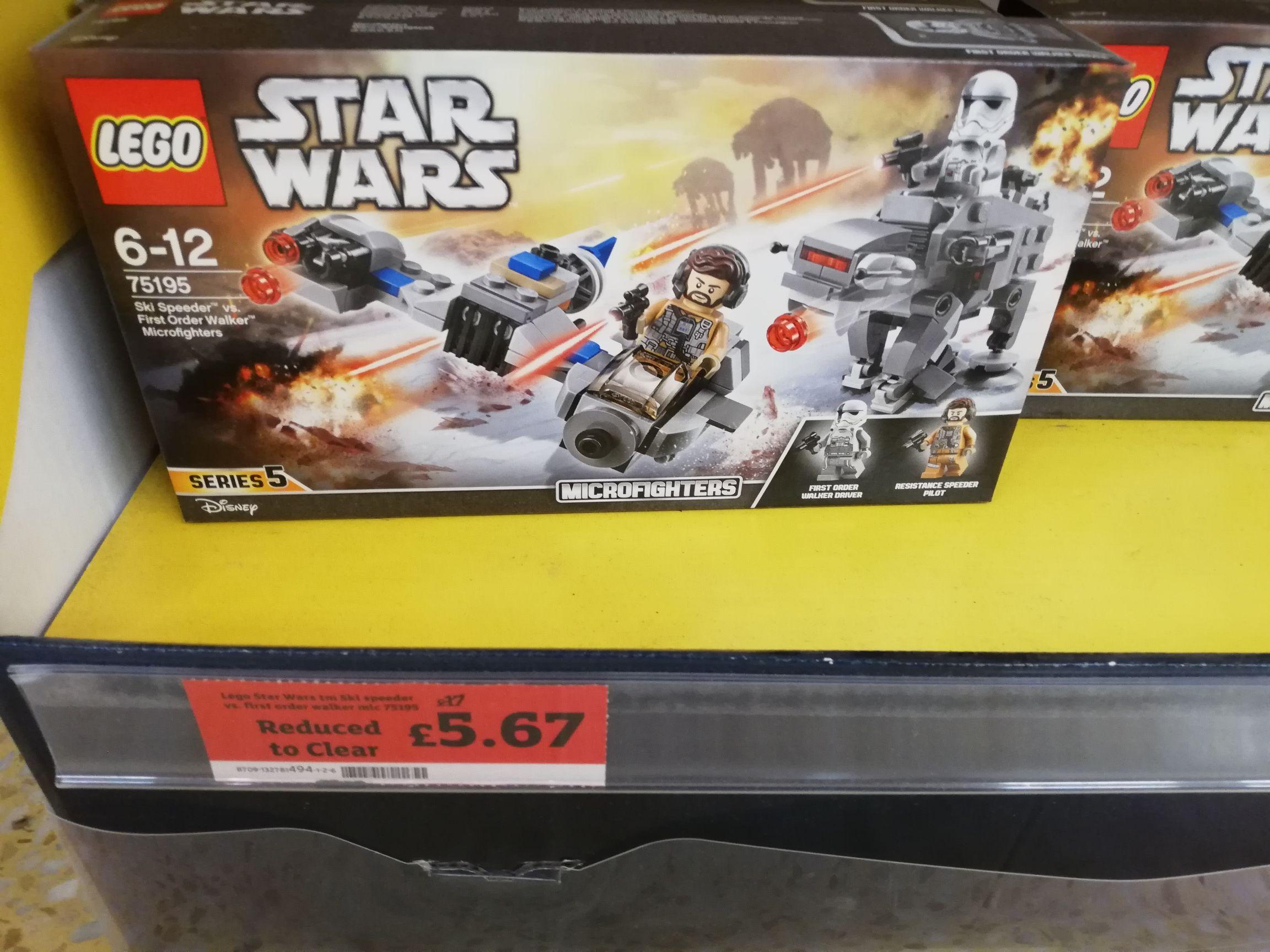 Lego Star Wars Ski Speeder Vs First Order Walker 75195 - £5.67 instore @ Sainsbury's Bridgend