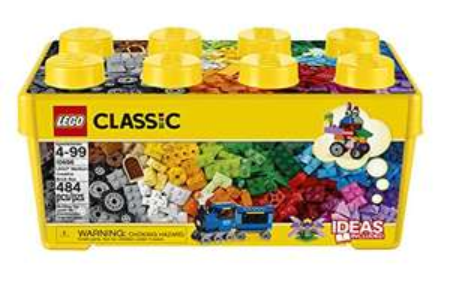LEGO 10696 Classic Medium Creative Brick Box, Easy Toy Storage, Lego Masters Fan Gift £18.49 Prime Exclusive @ Amazon