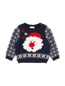 Baby boys christmas jumper Peacocks £2.50