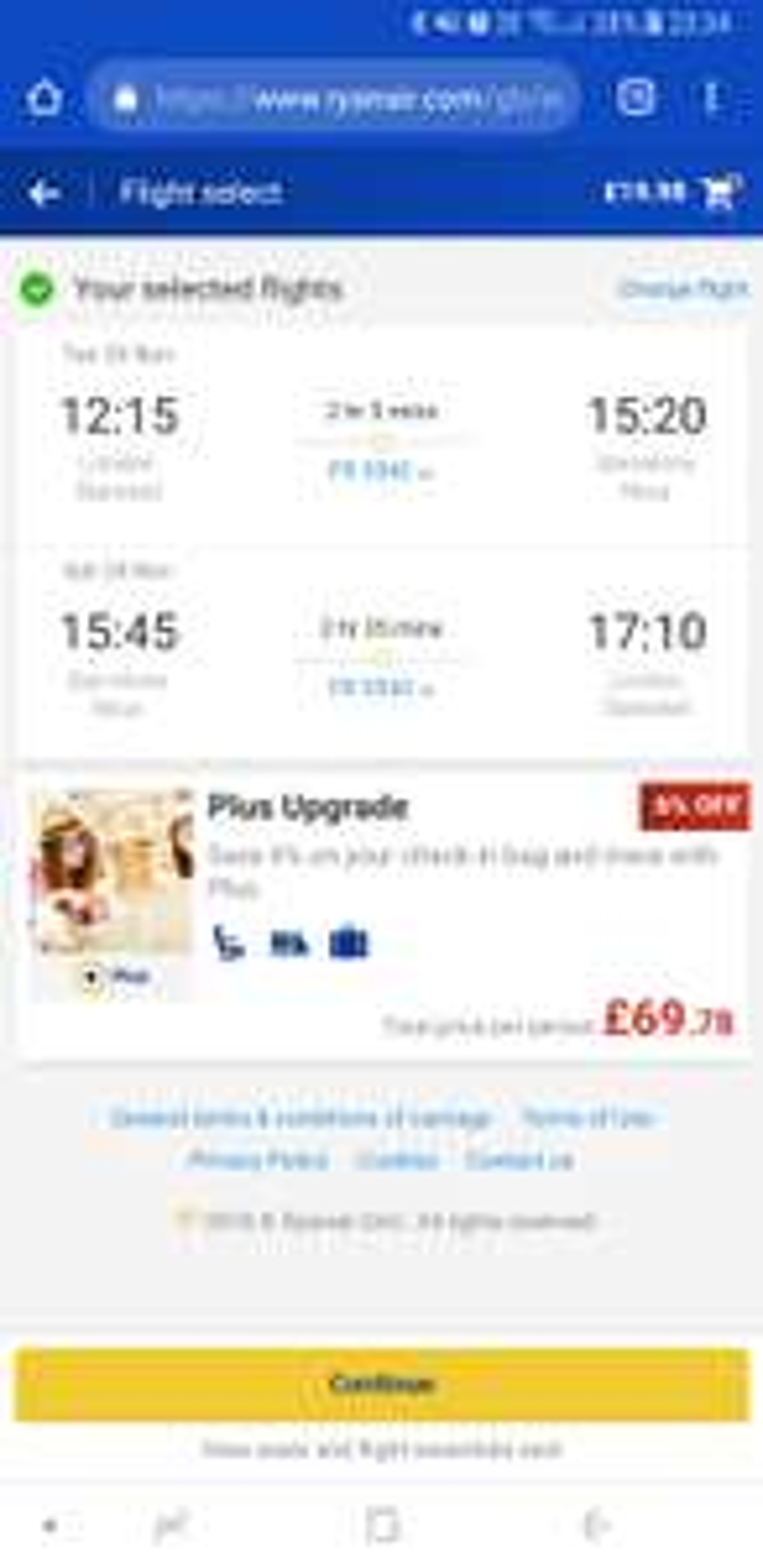 Return flight Stansted to Barcelona under £20 various dates. @ Ryanair