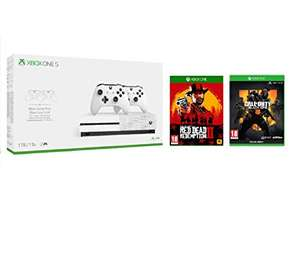 Xbox One S 1TB + Two Controllers + Red Dead Redemption 2 + Call of Duty: Black Ops 4 £249.99 @ Amazon