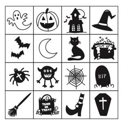 Free printable Halloween bingo