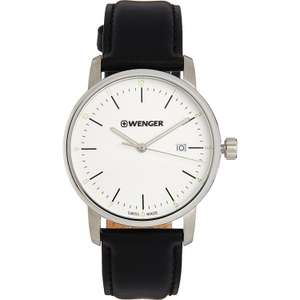 Wenger Urban Classic Men's Black Leather Strap Watch 42mm RRP: £129 now £59.99 @ TK Maxx