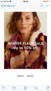 Mango winter flash sale online and instore + Free C+C
