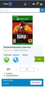 Red Dead Redemption 2 on Xbox One £54.99 (CD Keys)