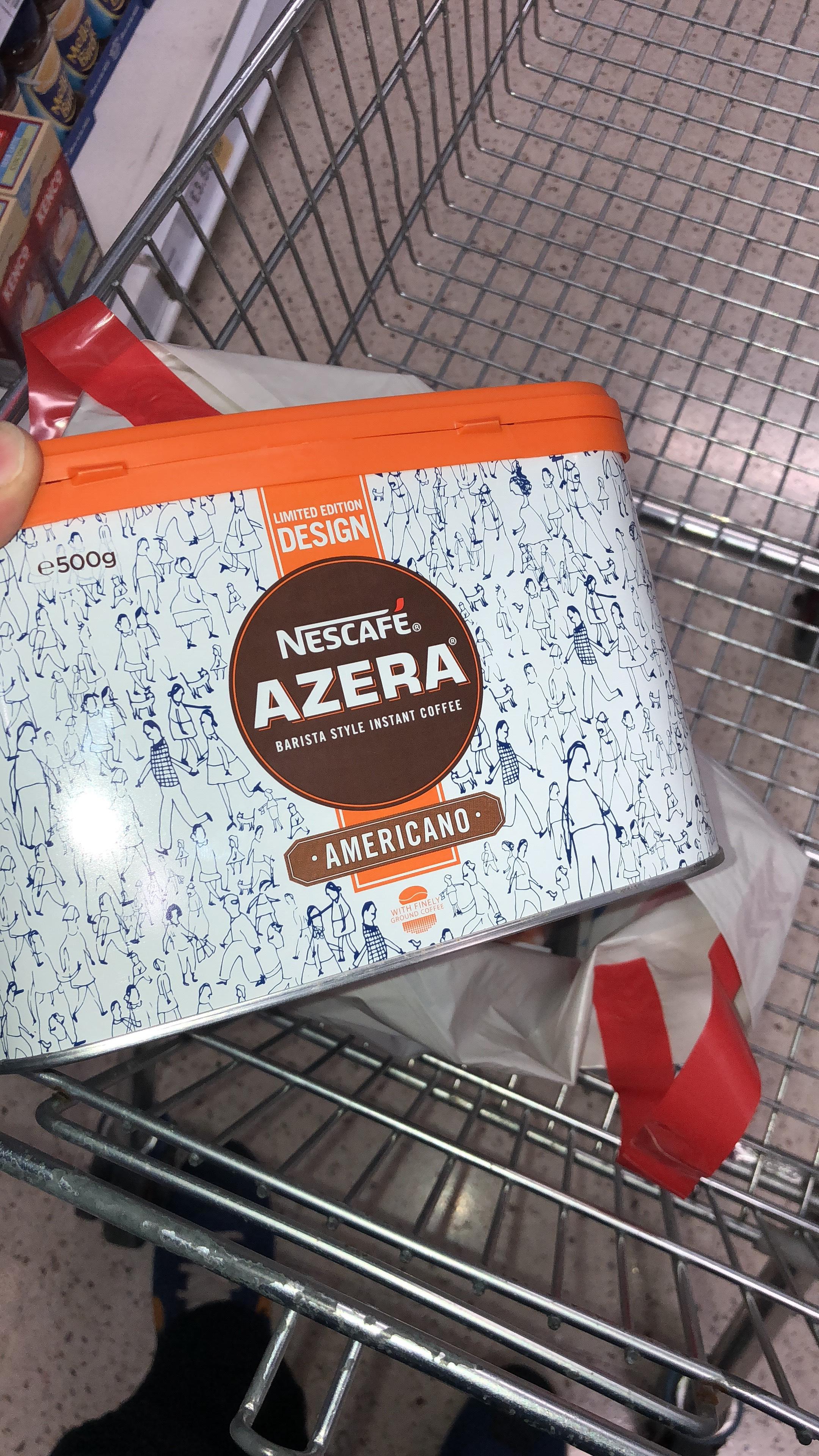 Nescafé Azera 500g in Tesco bulk buy area - 500g tins for £16