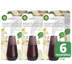 Air Wick Air Freshener Essential Mist Refill – Pack of 6 Cartridges White Bouquet £5.55 prime / £10.04 non prime @ Amazon (temp oos)