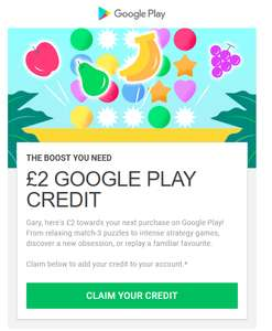 Free £2 credit to spend on Google Play Store - check emails