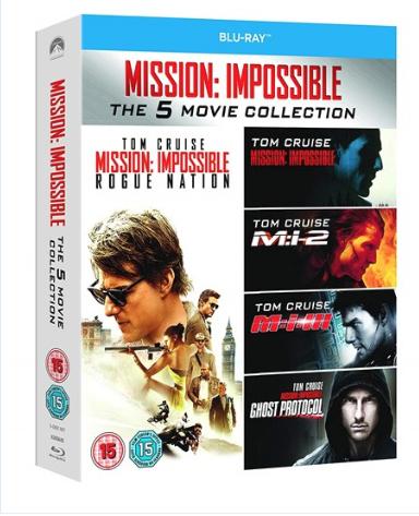 Mission Impossible 1-5 Bluray boxset £10 @ Zoom