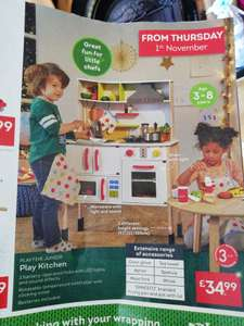 Wooden Play Kitchen in store @ Lidl from 1st November - £34.99