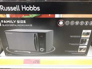 Russell Hobbs Family Size 23L 800w Digital Microwave was £85.00 now £70.00 instore @ Sainsbury's
