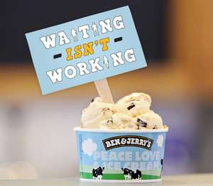 FREE Ben & Jerry's Ice Cream 'Waiting isn't Working' tour - Leeds, Exeter, London, Cardiff